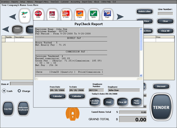 Pos System Register Retail Store Liquor Convenience